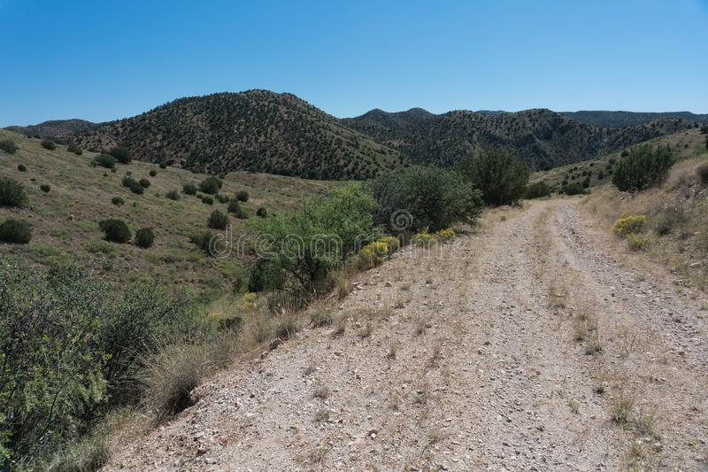 Rural southwest New Mexico road. royalty free stock images