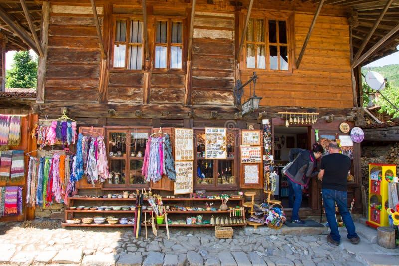Rural souvenir shop in Bulgaria royalty free stock images