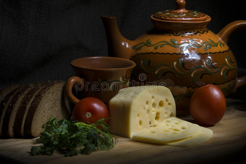 Foodtealife: Rural Still Life Stock Photo. Image Of Lunch, Green, Bread