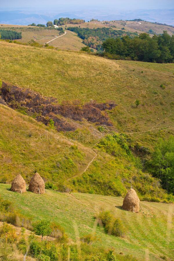 Rural summer landscape in a gorgeous Transylvania royalty free stock images