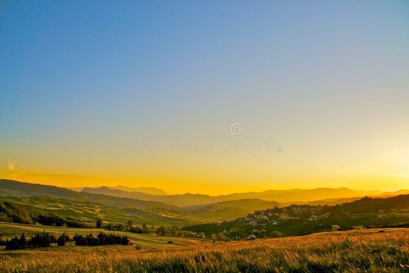 Download Rural sunset stock photo. Image of yellow, light, basilicata - 24731584