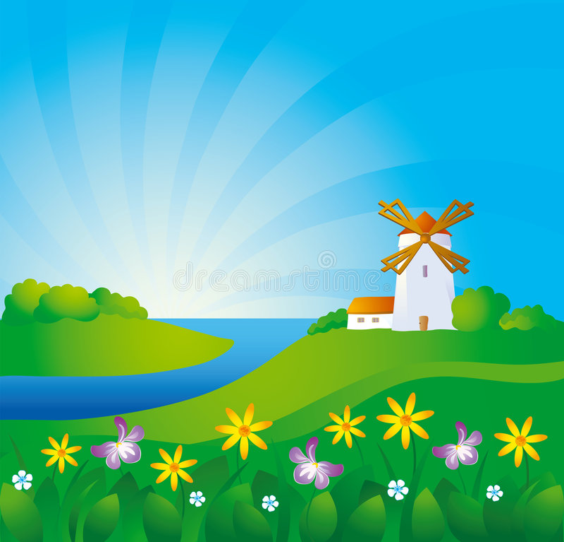 rural tło ilustracja wektor