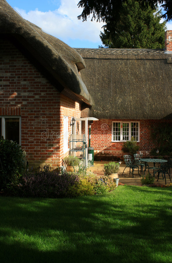 Rural Thatched Cottage stock photos