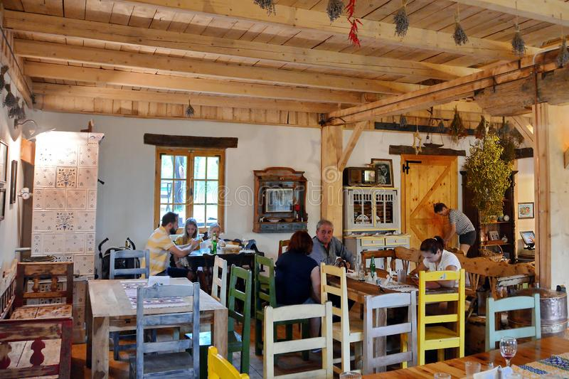 Rural Traditional Restaurant in Romania royalty free stock photography