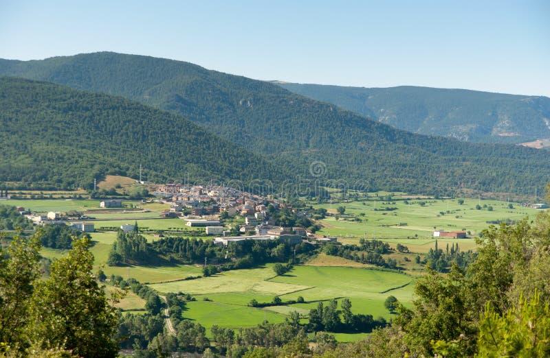Rural valley La Parroquia De Horto stock photo