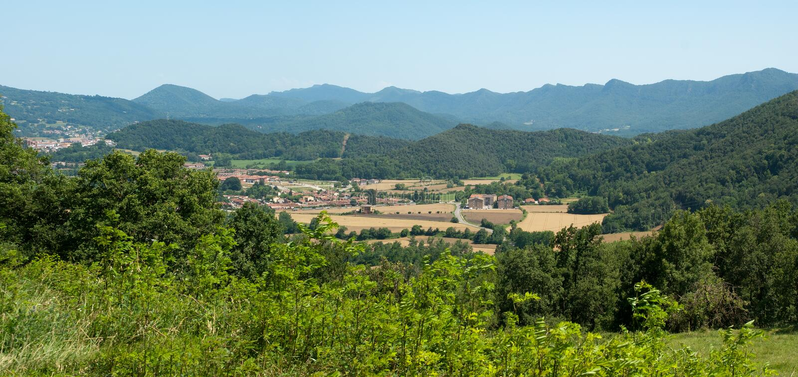 Download Rural Valley In The Spanish Pyrenees Stock Photo - Image of agriculture, catalan: 22920384