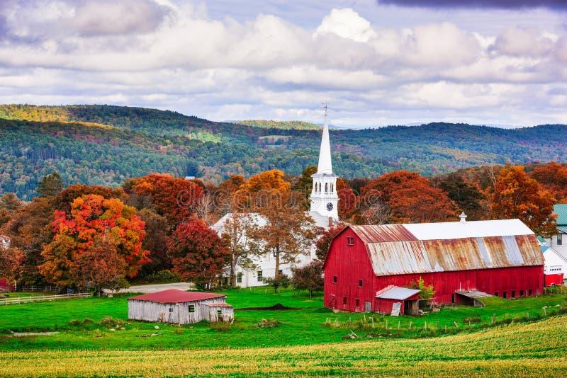 Rural Vermont USA. Peacham, Vermont, USA rural autumn scene stock photo