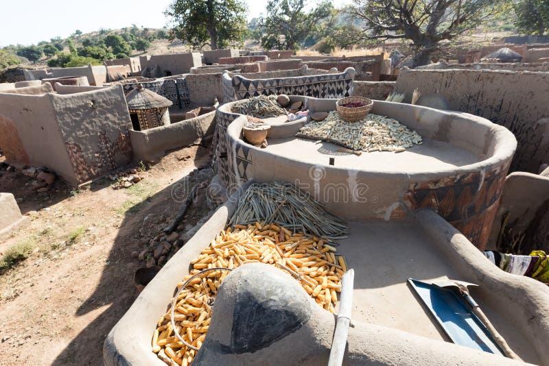 Rural village life. Lifestyle in rural village in Burkina Faso royalty free stock photos