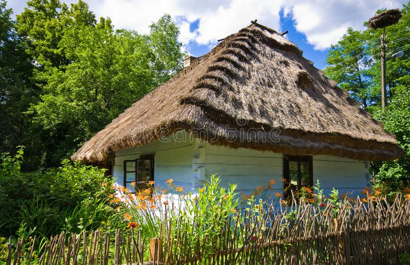 Rural village old house in southern Poland stock image