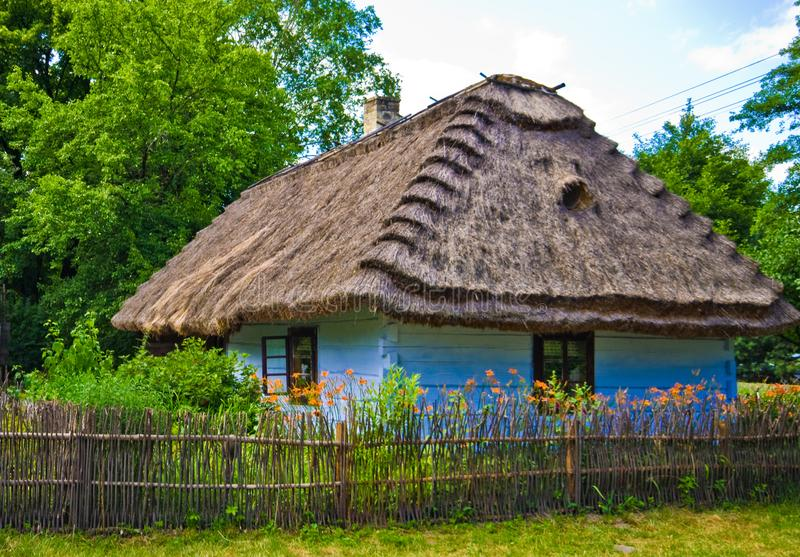 Rural village old house in southern Poland royalty free stock photo