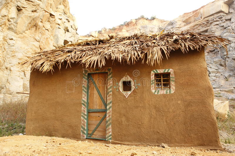 Rural village poor house India royalty free stock photos