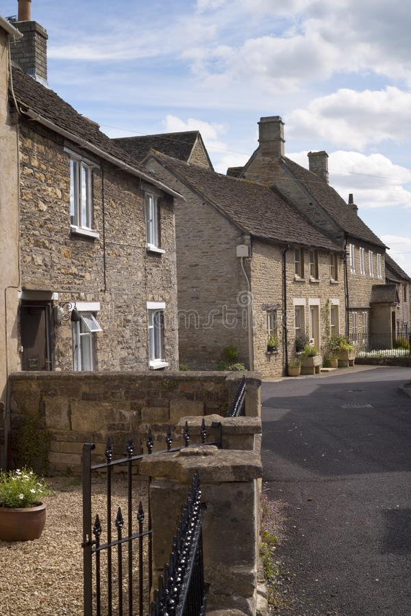 UK, Cotswolds, Sherston village. Rural village street scene, Sherston, Cotswolds, UK royalty free stock images