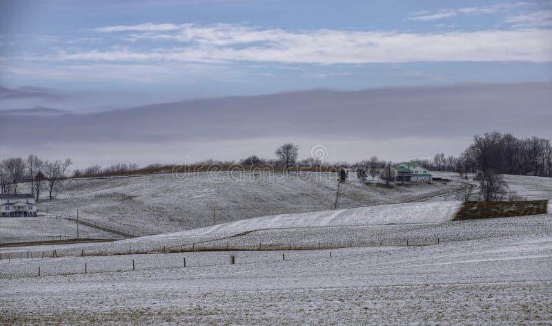 Rural winter scene stock image