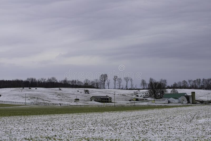 Rural winter scene royalty free stock photography