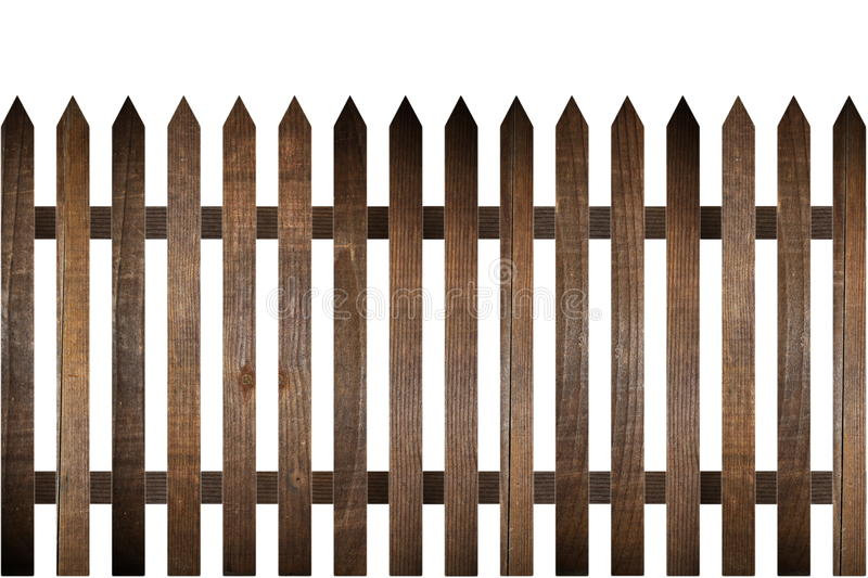 Rural wood fence stock image