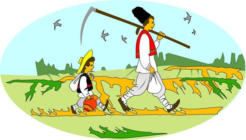 Download Rural Workers. Balkan Peasants. Stock Vector - Image: 5586077