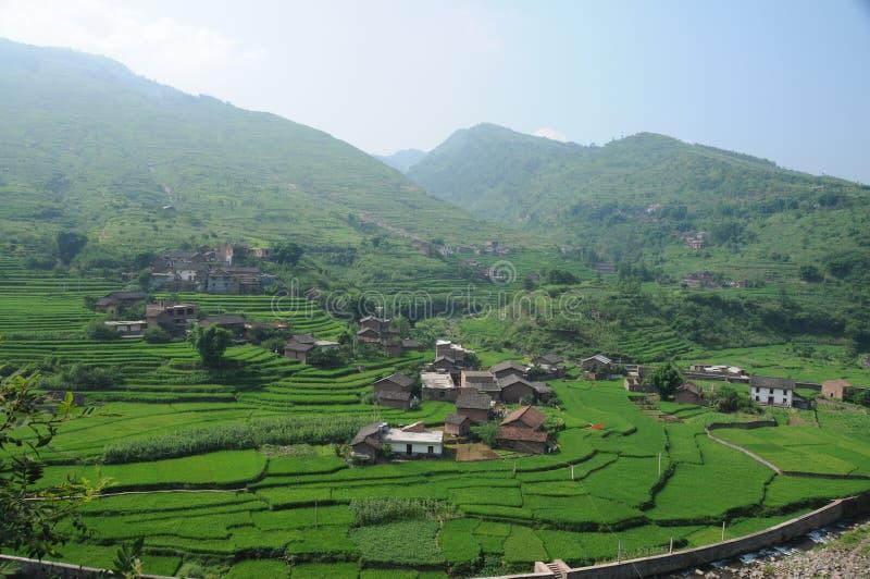 Rural y aldea imagenes de archivo