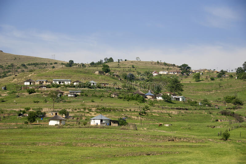 Rural zululand. KwaZulu was a bantustan in South Africa, intended by the apartheid government as a semi-independent homeland for the Zulu people stock photo