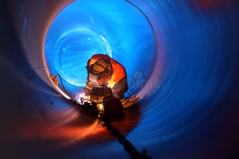 Rurociąg budowa zdjęcia stock