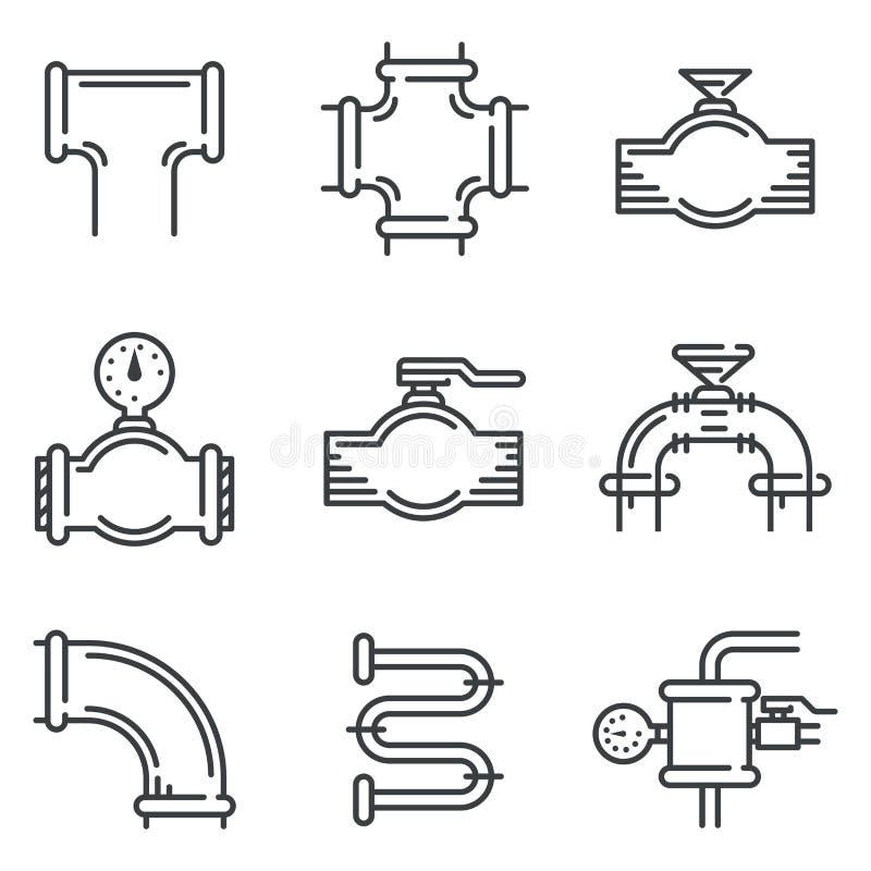 Rurociąg czerni linii ikony ilustracja wektor