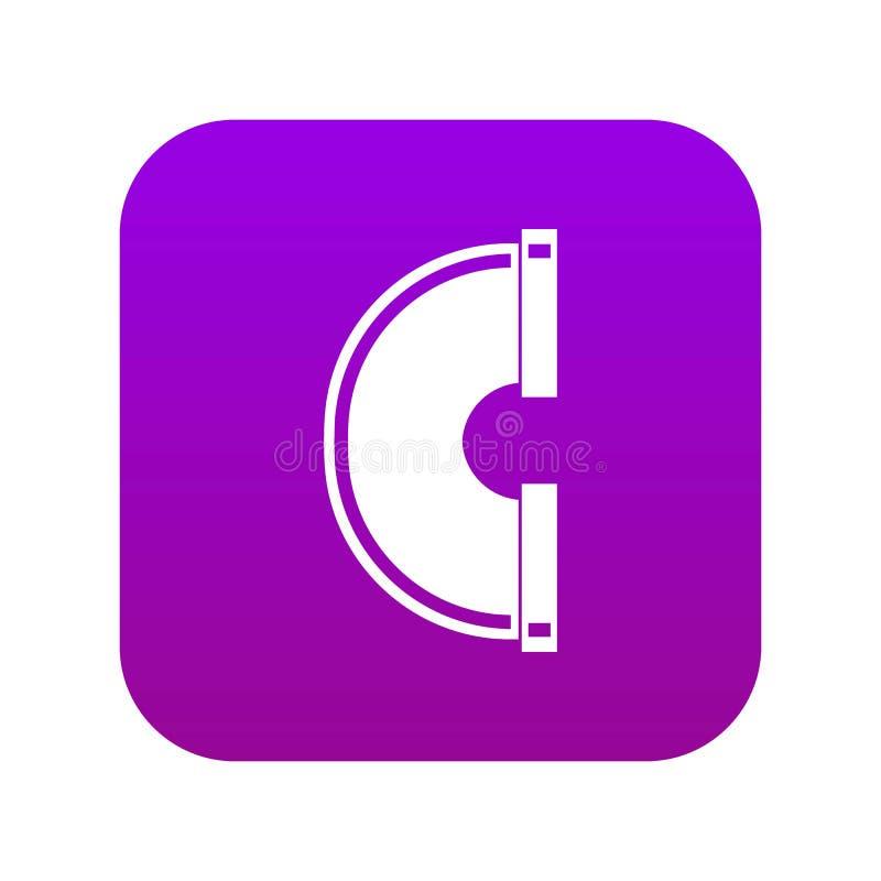 Rurociągowej podłączeniowej ikony cyfrowe purpury royalty ilustracja
