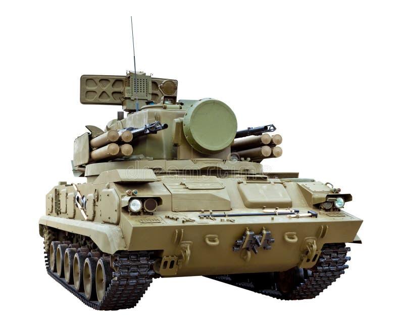 Rus volgde gemotoriseerd luchtafweerdiewapen wordt bewapend met royalty-vrije stock afbeelding