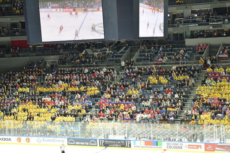 RUS vs SWE Lodowego hokeja światu mistrzostwo zdjęcie stock
