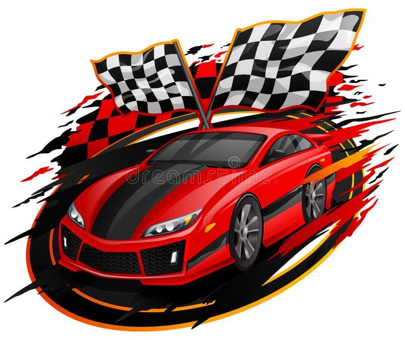 Rusa design för tävlings- bil vektor illustrationer