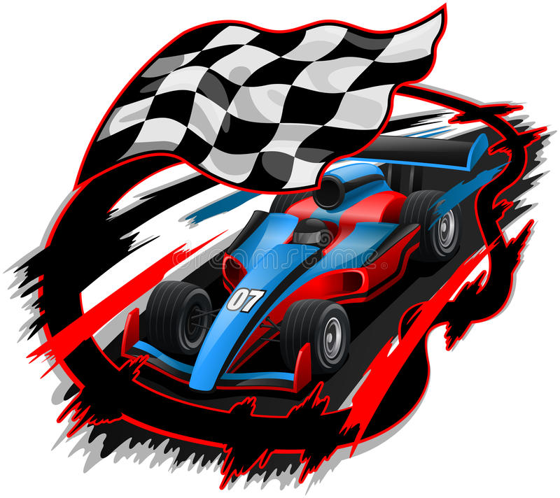 Rusa design för tävlings- bil F1 stock illustrationer
