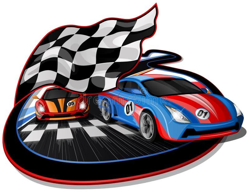 Rusa design för tävlings- bilar royaltyfri illustrationer