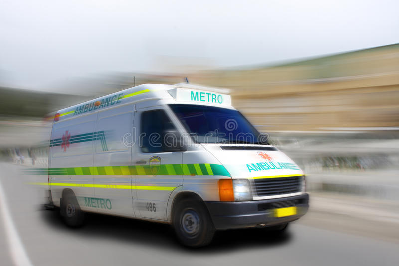 rusa för ambulans arkivbilder
