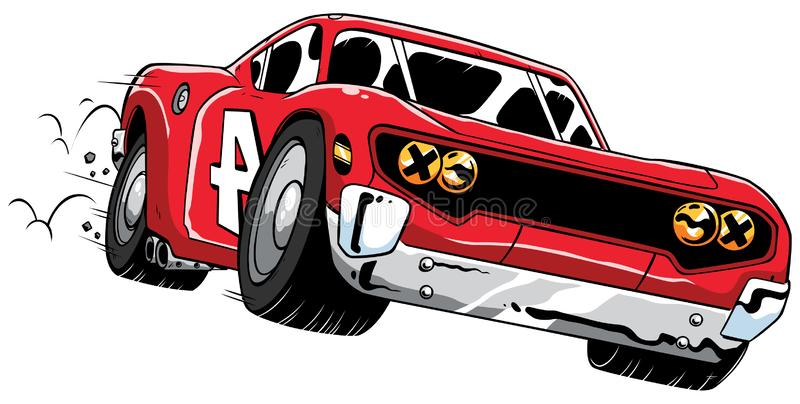 Rusa för racerbil stock illustrationer