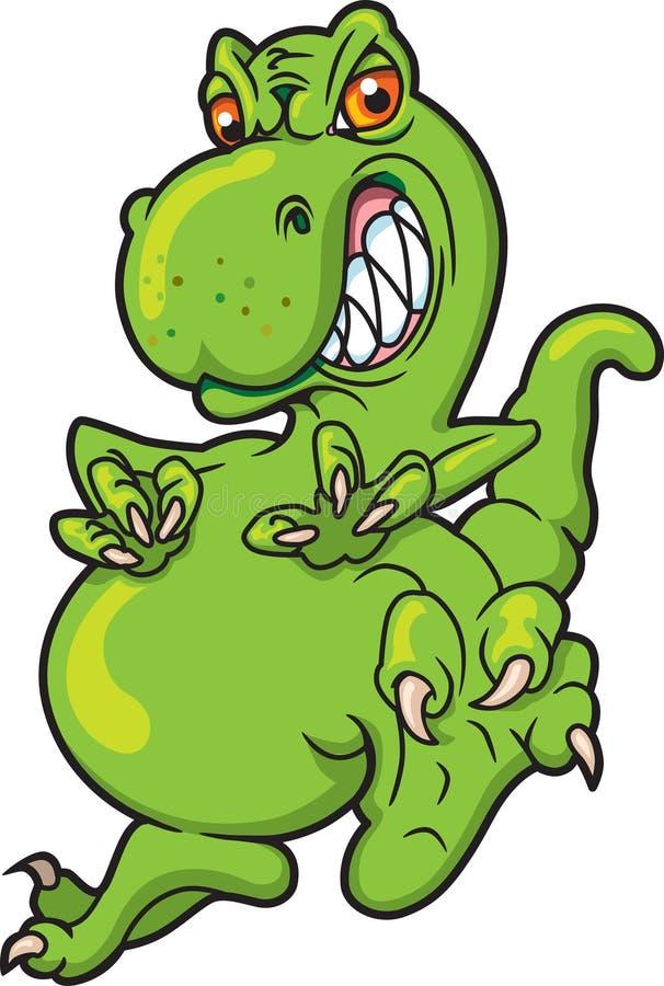 rusa omkring för dinosaur royaltyfri illustrationer