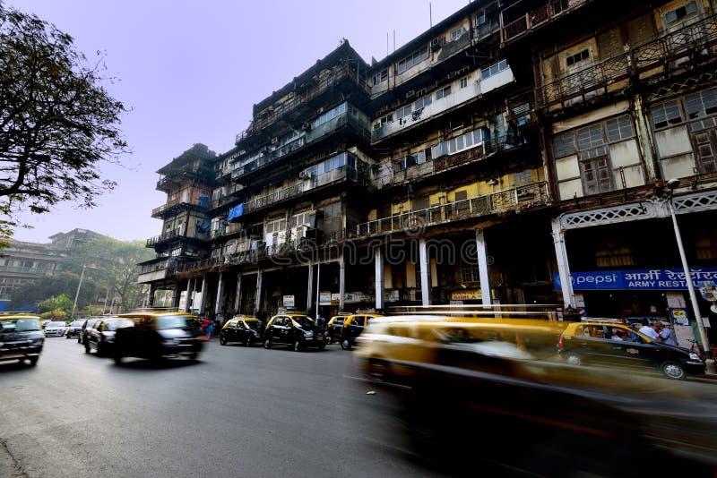 Rusa taxi` s i Mumbai arkivfoton