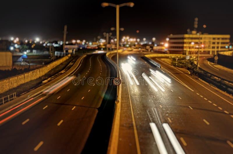 rusa tid för natt arkivfoto