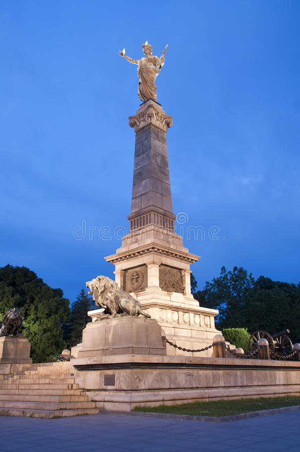 Ruse, Bulgaria. The Monument of Liberty was built around 1909 by the Italian sculptor Arnoldo Zocchi royalty free stock image