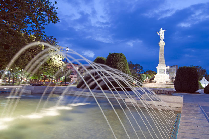 Ruse, Bulgaria. The Monument of Liberty was built around 1909 by the Italian sculptor Arnoldo Zocchi royalty free stock images
