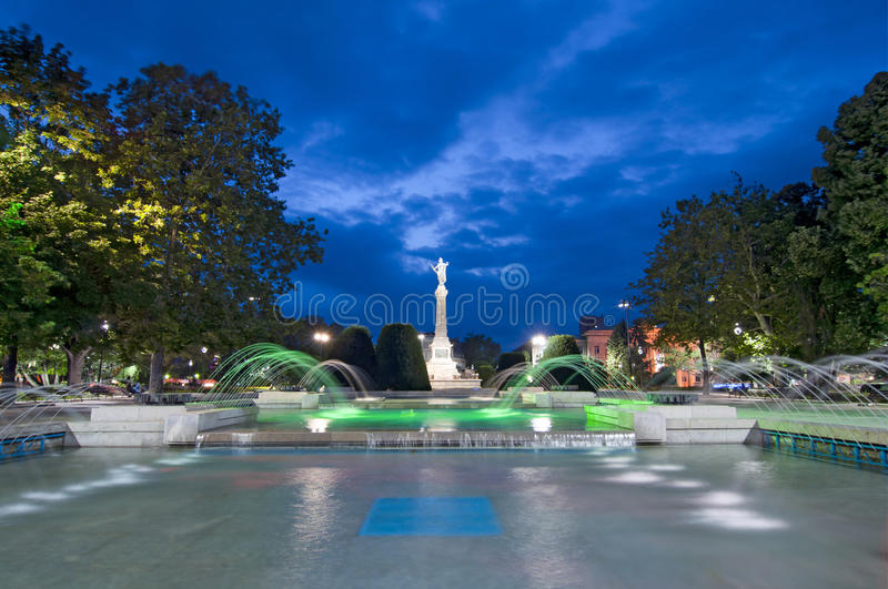 Ruse, Bulgaria. The Monument of Liberty was built around 1909 by the Italian sculptor Arnoldo Zocchi stock image