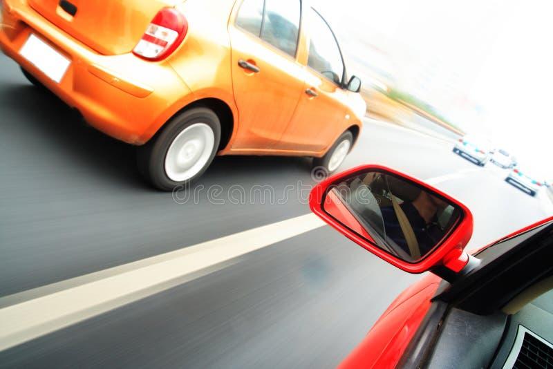 Rush car,motion blur steet stock photo