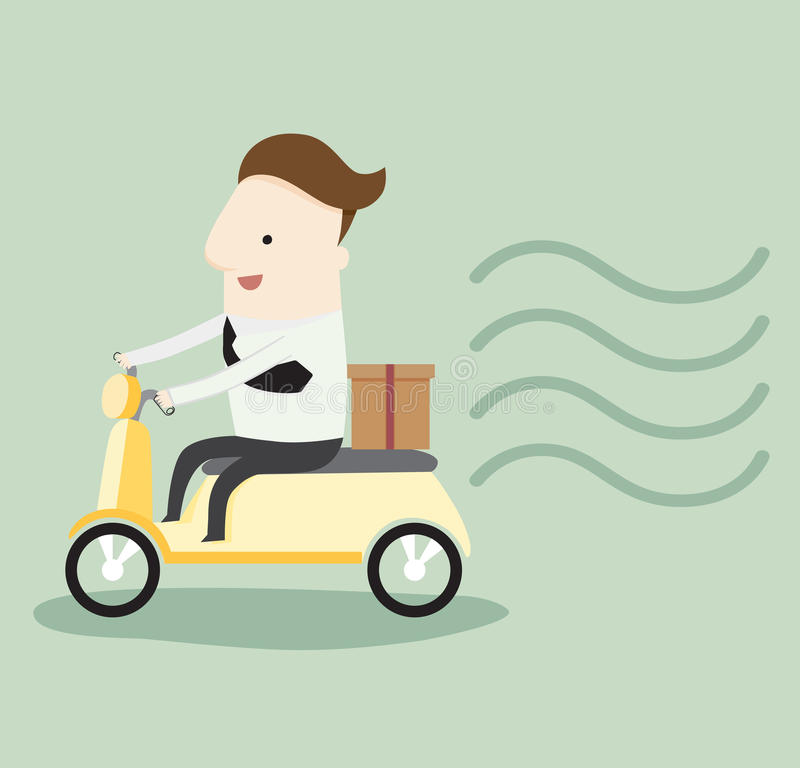 Rush delivery order stock illustration