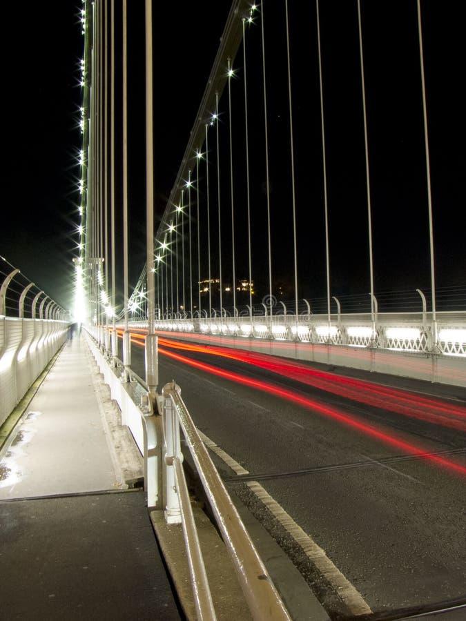 Rush Hour. Traffic heading over Bristols Clifton Suspension Bridge royalty free stock image