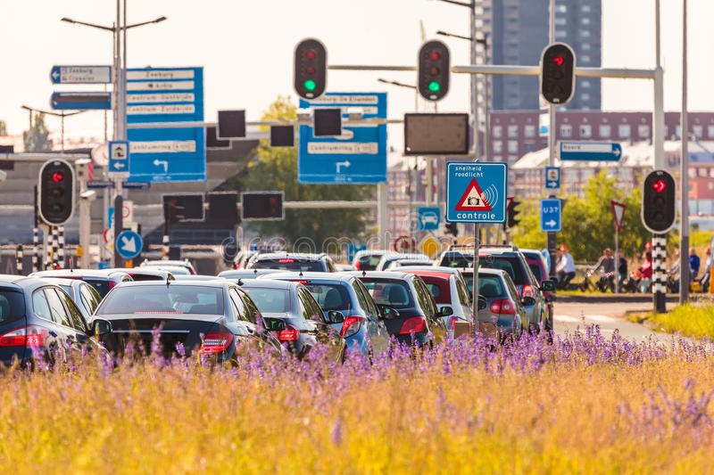 Rush hour in Amsterdam, The Netherlands royalty free stock image