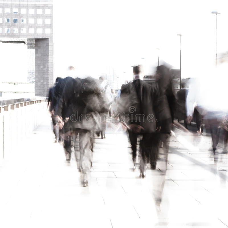 Rush hour commuters stock photos