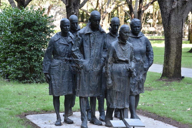 Rush Hour by George Segal. At Nasher Sculpture Center in Dallas, Texas stock photography