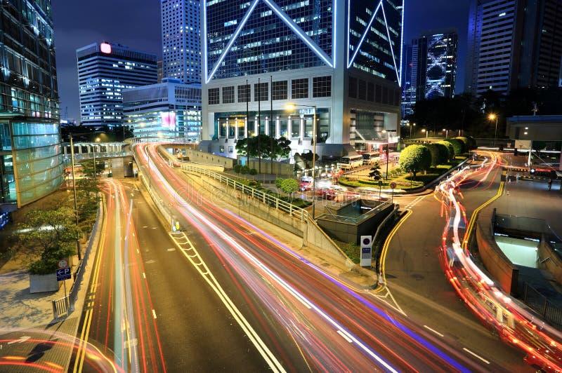 Rush Hour Hong Kong. Cityscape at Night stock photos