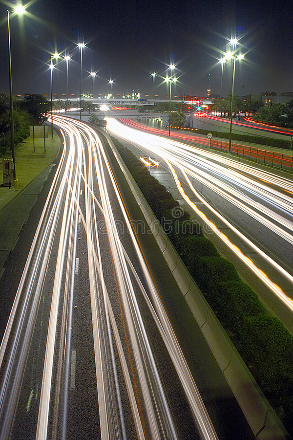 Download Rush hour lights at night stock image. Image of headlamps - 1024853
