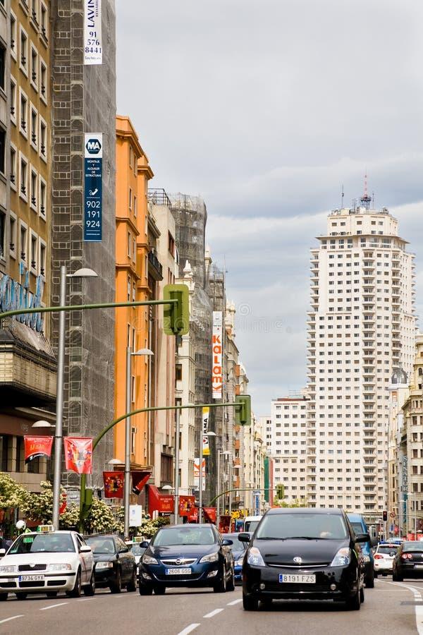Rush hour, Madrid stock photography