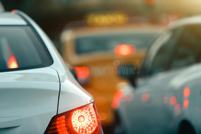 Rush Hour. Traffic Jam rush hour cars selective focus stock photos