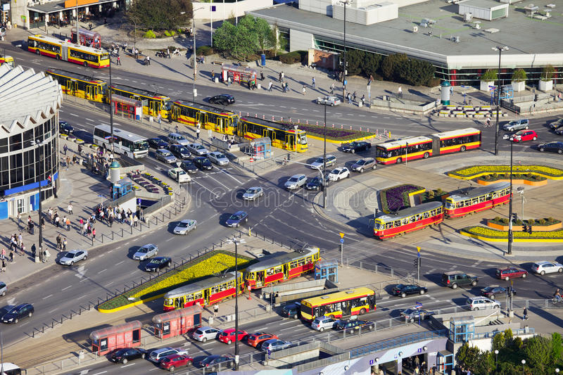 Download Rush Hour Traffic On Roundabout Stock Photo - Image of junction, crowd: 19584720
