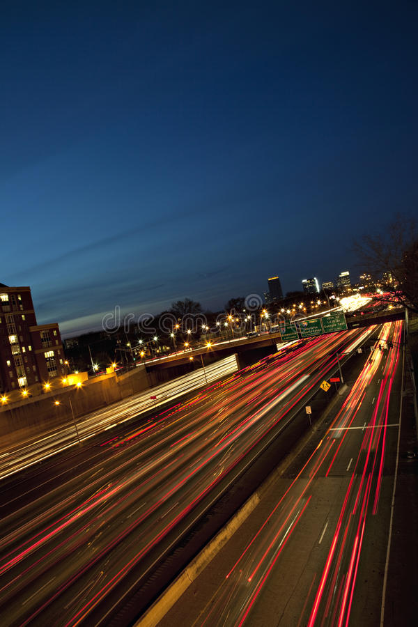 Rush Hour Traffic At Twilight Royalty Free Stock Photography
